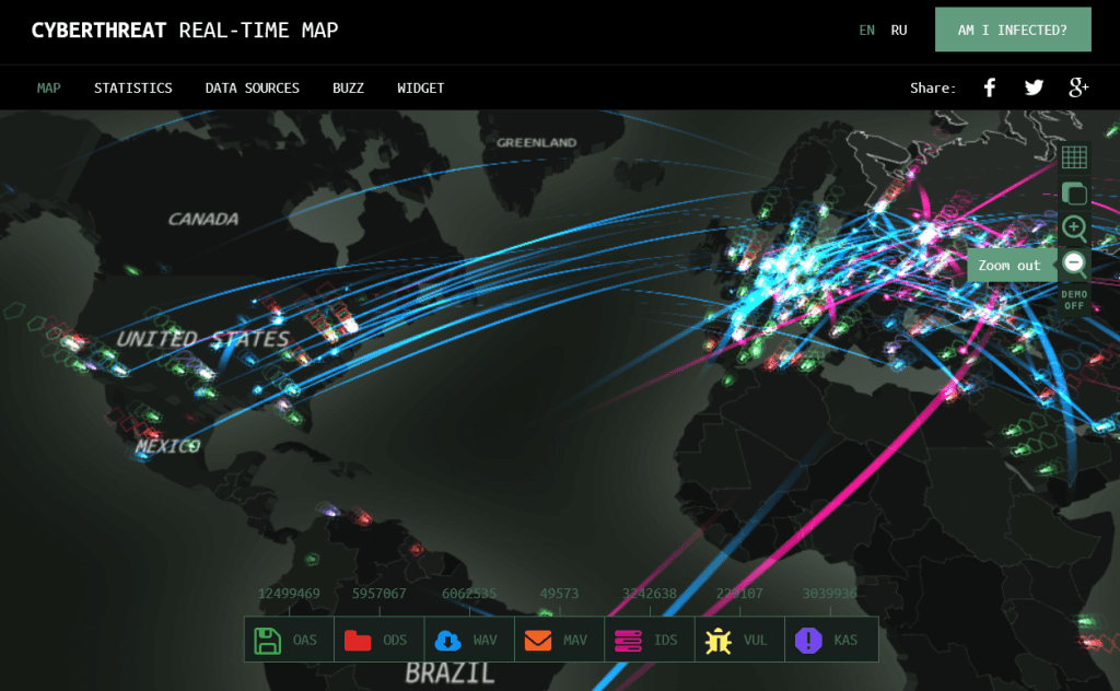 Real-Time Threat Maps - ControlTrends