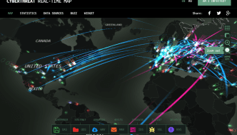 Kaspersky Live Threat Map