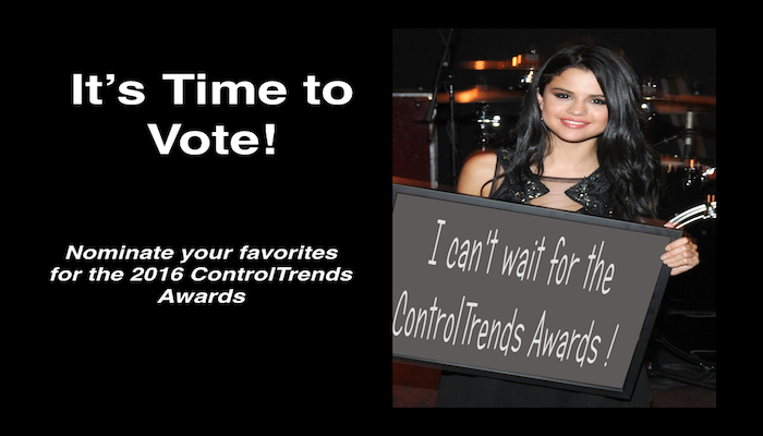 Make Your 2016 ControlTrends Awards Nominations Today!