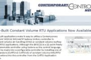 Contemporary Controls Announcement Pre-Built Constant Volume RTU Applications Now Available
