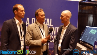 Microsoft's Group Program Manager of Azure IoT, Bert Van Hoof and Willow's CEO and Co-Founder, Josh Ridley at 2018 Realcomm|IBcon